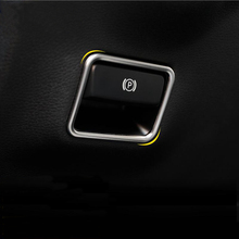 Car-styling Interior Electronic Handbrake frame Cover Trim Sticker Mercedes Benz B Class GLE W166 GLS X166 CLA GLA W176 - Huaxing good faith business store