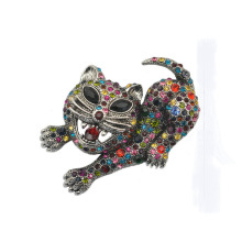 crystal tiger brooch exaggerated classic animal men brooch zodiac Brooch jewelry gift for Valentine's Day Accessories costume