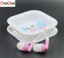 wholesale 500pcs/lot Cheapest colorful 3.5mm In ear candy Earphone With Crystal Box As Gift   For MP3 MP4 Mobilephone