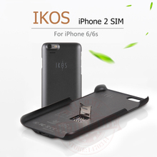 Dual SIM Dual Standby Adapter For iPhone 6/6s iKOS K2 GoodTalk Phone Cases Shell Ultra-thin Back Clip