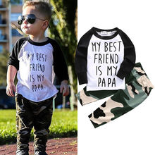 Buy Fashion Newborn Baby Boy Clothes Long Sleeve T-shirt Top Camouflage Pant Trouser 2PCS Outfit Bebek Giyim Clothing Set Child Suit for $5.20 in AliExpress store
