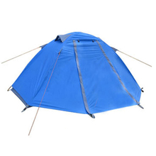 One Person Double Layer Camping Tents with Aluminum Pole Waterproof Windproof Hiking Beach 2 Color Outdoor Tent