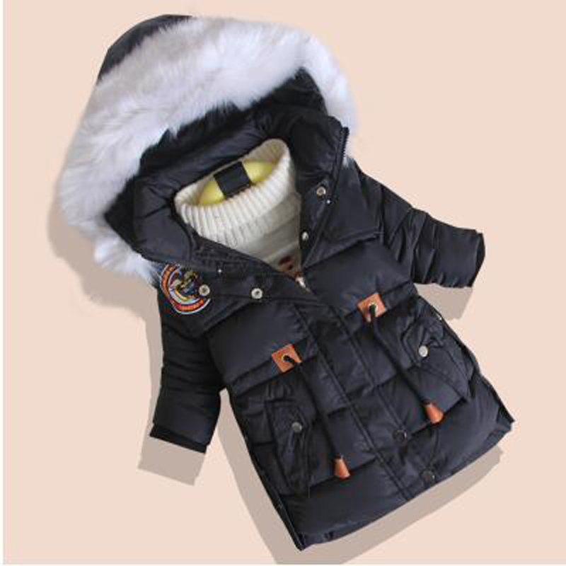 New 2016 Childrens Winter Cotton-padded  Jacket  Fashion Warm Boys Girls Thickening Zipper Wadded Coat  ParkassОдежда и ак�е��уары<br><br><br>Aliexpress