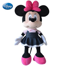 Disney Kawaii High-quality Doll Jeans Mickey Mouse Mickey Toys Plush Stuffed Toys For Children Kids Birthday Gift(China)