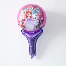 Free shipping Sofia princess foil balloon within stick small friend toy balloon inflatable balloons for gift toy supplies(China)