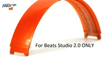 Replacement Top Headband Pad Cushions Repair Part for Beats Studio 2.0 Wired / Wireless Over Ear Headphone (Orange)(China)