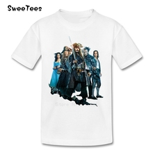T Shirt Kid 2017 T-shirt 5 Dead Men Tell No Tales Baby Tshirt Pirates Of Caribbean children's The Infant Costume For Boy Girl(China)