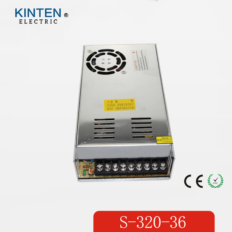 320W 36V 8.9A Single Output Switching power supply for LED Strip light AC to DC 110V 200V selected by switch<br>