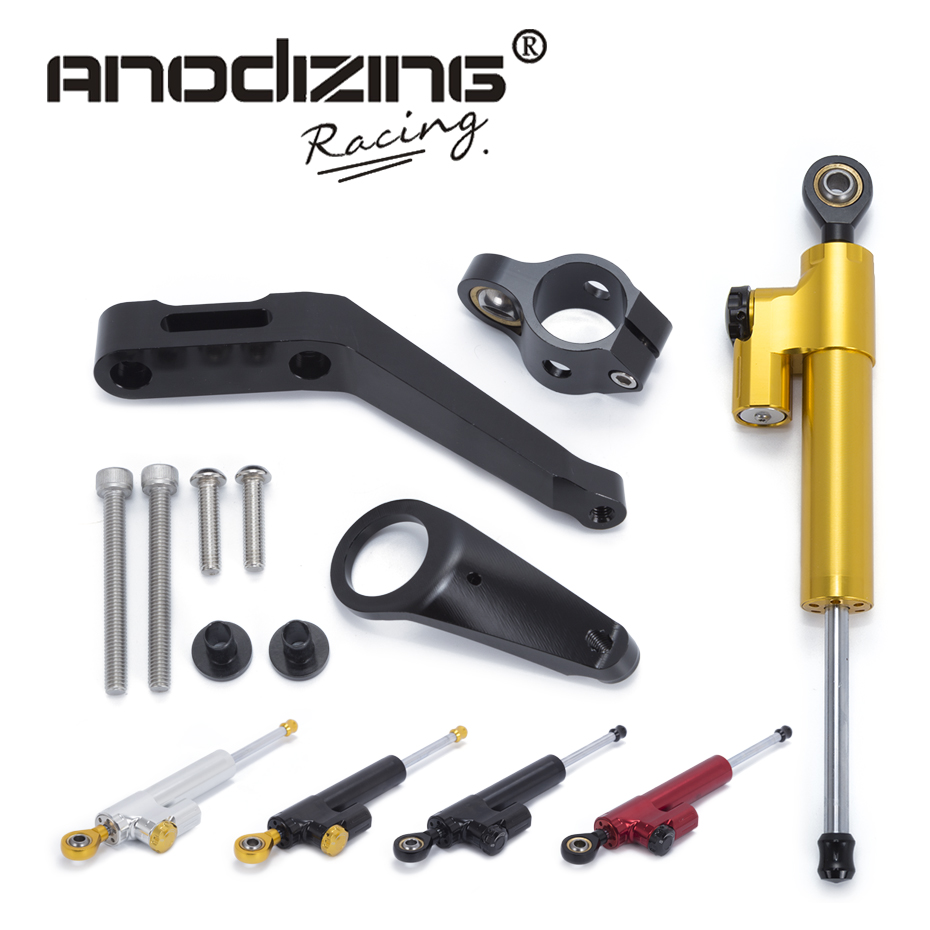 Motorcycle CNC Steering Damper Stabilizerlinear Reversed Safety Control with Bracket For Honda CBR954RR 2002-2003<br>