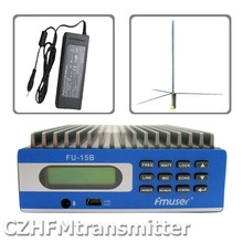 FMUSER FU-15B 0W-15W PREMIUM Professional PC Control FM Transmitter+1/2 wave GP antenna+ power supply+ audio cable(China)