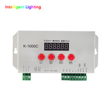 K-1000C (is the T1000S Upgraded version) led RGB controller with SD Card off-line led pixel control for WS2811, WS2812B, APA102