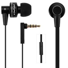 Awei ES 900i Noise Isolation In-ear Earphone with 1.2m Cable Mic for Smartphone Tablet PC Support Microphone Answering phone