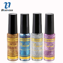 Nail Polish Accessories Nail Supper Bright Sequins Glitter Nail Art Nail Polish Pull Line Pen Gold/Silver/Blue/Purple JH417(China)
