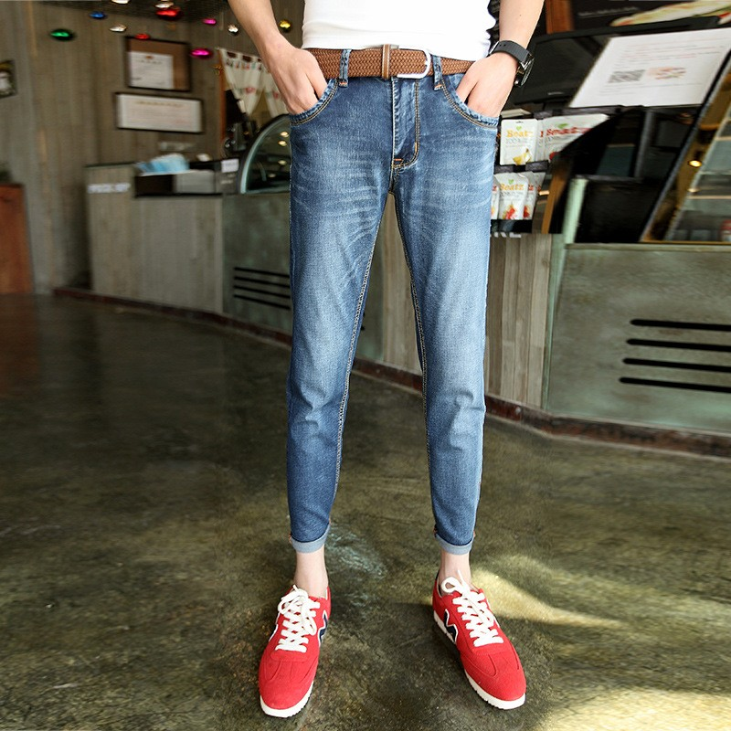 2017 New Arrival Fashion Black Color Slim Straight Leisure &amp; Casual Brand Jeans Men,Hot Sale Denim Cotton Men Jeans,FDK2002Одежда и ак�е��уары<br><br><br>Aliexpress