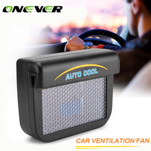 Onever Solar Sun Powered Auto Cool Ventilation Fan Auto Vehicle Car Air Vent Cool Fan Window Cooler Ventilation System Radiator
