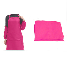 HGHO-Plain Apron with Front Pocket for Kitchen Cooking Craft - Rose