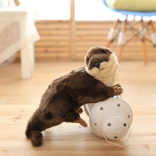 45cm cute Original Wild animals Simulation Otter Plush Toys car house decoration Doll Gifts for Children Christmas Birthday(China)
