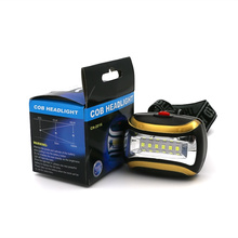 Yellow Mini 3 Modes 6 LED Waterproof Flashlight outdoors Headlight Headlamp head light lamp Torch Lanterna with Headband,AAA(China)