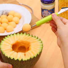 Multifunctional Ice Cream Dig Ball Scoop Spoon Baller DIY Assorted Cold Dishes Watermelon Fruit Carving Tools Knife(China)