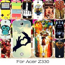 22 DIY Silicone Mobile Phone Case Cover For Acer Liquid Z330 Z320 M330 4.5INCH Back Covers Shell Housing Hood For Acer Z330 Z320