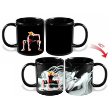 ONE PIECE Luffy Ceramics Color Change Mug Navigation Pirates King Heat Sensitive Mug Tea Coffee Discoloration Cup Friend Gift