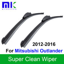 "Silicone Rubber Wiper Blades For Mitsubishi Outlander 2012 2013 2014 2015 2016 Pair 26""+18"" Windshield Windscreen Accessories(China)"
