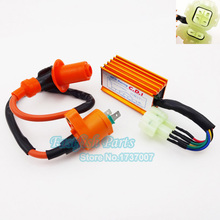 6 pin AC CDI Box Racing Ignition Coil For GY6 50cc-150cc ATV Quad Go Kart Moped Scooter Motorcycle Motocross
