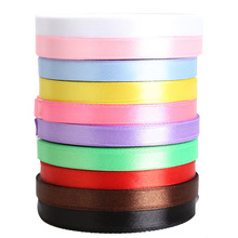 10 Rolls 25 Yards Length Ribbons Cheap Decorative Satin Ribbon 10mm 3/8(China)