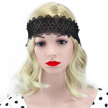 Women Sexy Lace Wedding Headband Girls White Black Bridal Elastic Hair Accessories Fashion Lace Autumn Winter Hairband Head Wrap