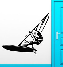 Wall Stickers Vinyl Decal Windsurfing Extreme Sports Water Cool Decor(China)