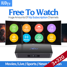4K Movie TV Box IUDTV Subscription 3G 32G X92 Amlogic S912 Android 6.0 TV Box Octa Core BT 4.0 5G Wifi UK Europe Arabic IPTV Box