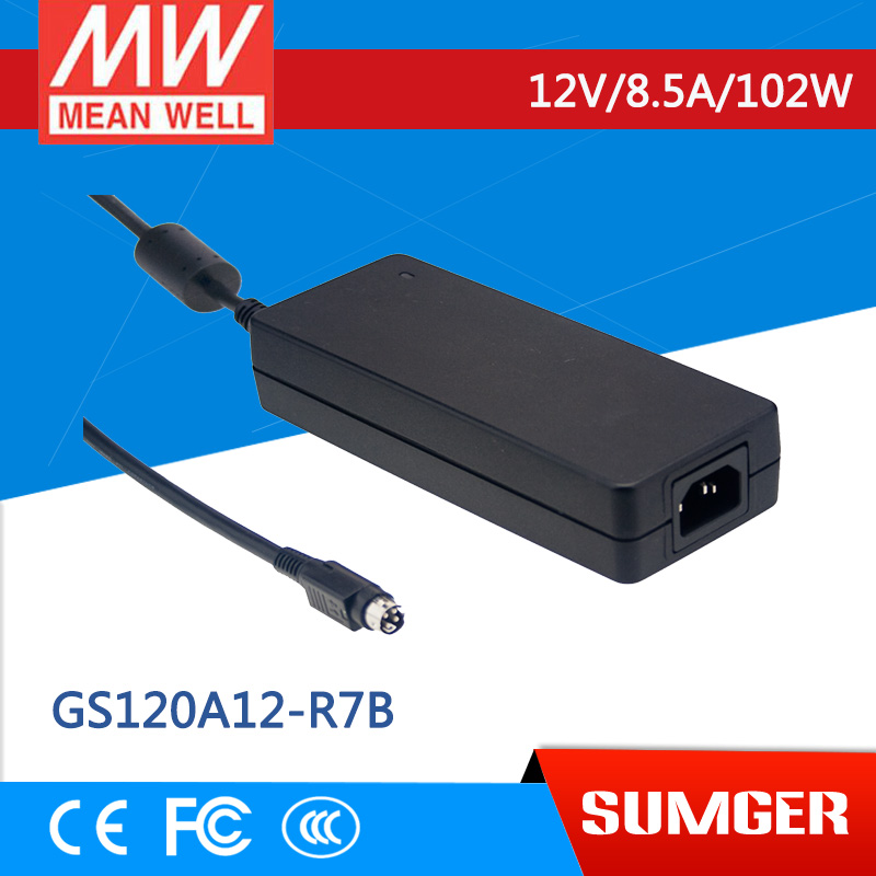 Worthwhile Free shipping MEAN WELL GS120A12-R7B 2Pcs 12V 8.5A meanwell GS120A 12V 102W AC-DC Industrial Adaptor<br><br>Aliexpress