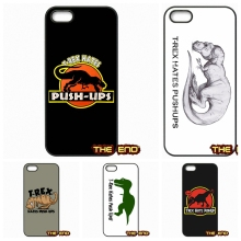 T REX HATES PUSHUPS Dinosaur Screen Printed Phone Cases For iPhone 4 4S 5 5C SE 6 6S 7 Plus Galaxy J5 A5 A3 S5 S7 S6 Edge
