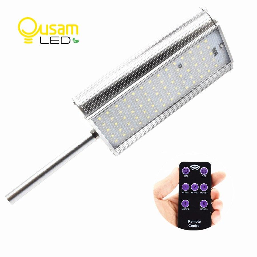 70 Led Street Light Solar Power Lamp With Remote Controller 3 Modes Motion Sensor Aluminum Alloy Waterproof For Garden Lighting<br>