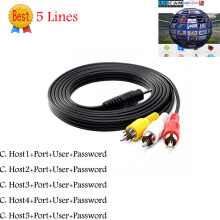 DH 3 RCA AV Cable 5 Clines suppot Cccams Digital Satellite TV Receiver DVB-S/S2 FTA Set Top Box(China)