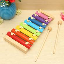 Musical Piano Wooden Instrument Kids Early Education Intelligence Development Crafts Baby Hand Knock Wooden Toy