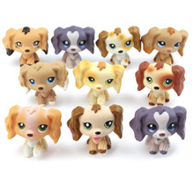 Mini Cute Pet Animals Kids Toys Collection Action Figures Toys Lovely Little long hair Dog Gift For Children Kids(China)