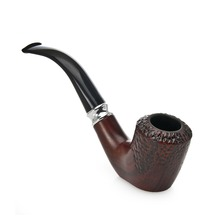 Fashion Brown Wooden Color Smoking Pipe Can Stand Gift for Smoker Handmade Resin Cigarette Mouthepiece Tobacco Herb Pipes 663(China)
