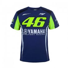 New Arrival ! 2017 Valentino Rossi VR46 Moto GP T-shirt for Yamaha Racing Blue Men Tee(China)