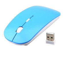 Ultra thin 2.4G Wireless Mouse Ergonomically DPI Adjustable USB Receiver for Laptop Ultrabook