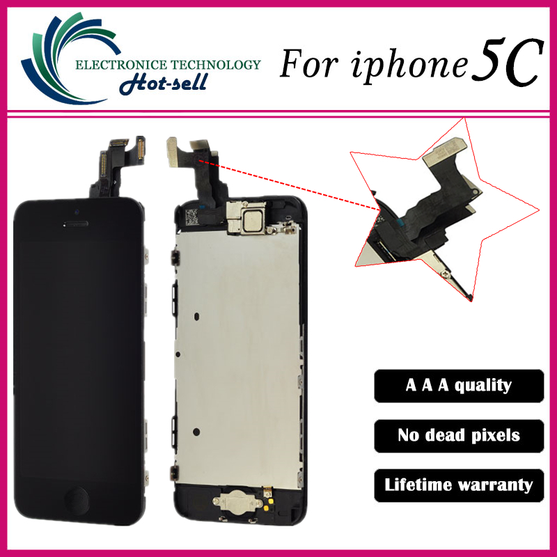 Grade AAA+++ For iPhone 5C LCD With Touch Screen Digitizer Assembly Display Replacement No Dead Pixel<br><br>Aliexpress