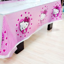 Hello Kitty Party Supplies Disposable Tablecloth  kids Birthday Decoration Baby Shower For Kids Girls 108x180cm 1