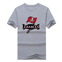 "Newest 2017 TIE DYE RED Jameis Winston ""Bucs Logo"" T-shirt 100% cotton short sleeve T shirt 1019-2(China)"