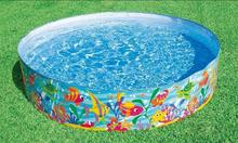 INTEX 56452 free inflatable fish pattern hard plastic children's pool play sand pond pool Cassia 183 * 38CM(China)