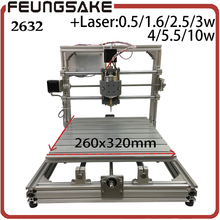 CNC Wood Router,wood cutter 26*32cm+support laser engraving GRBL Diy mini CNC machine,carving machine,3Axis pcb Milling machine