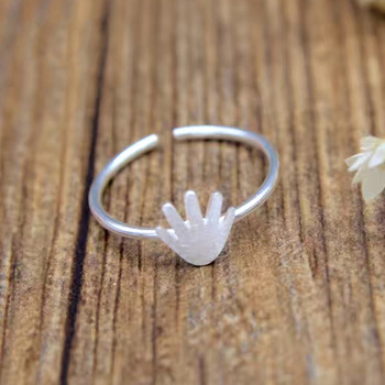 Kinitial 1Pcs Wholesale 925 Silver Hand Rings For Man Punk Man