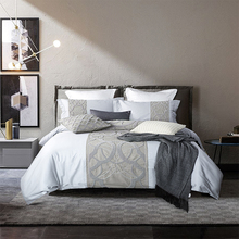 4/6pcs Embroidered Luxury Bedding Sets Queen King Size Bedclothes Egyptian cotton Brand Duvet Cover Set