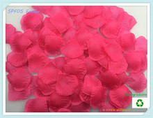 "1lot(100pcs)Size2""x2""(5x5cm) Top Quality Fushia Table Scatter Flower Petals For Wedding Aisle Flower Girl Baskets Supplies(China)"