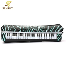 24 Inches PVC Inflatable Keyboard Piano Instrument Fun Party Music Toy For Children Black and White Musical Gift
