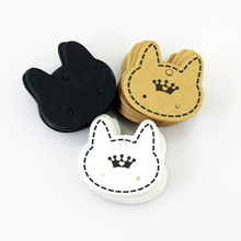 Hotsale 500pcs 3.7x3.5cm Paper Earrings Card Jewelry Ear Studs Display Cards Cat Head Shape Price Label Jewelry Tag